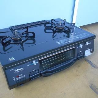 パロマ ガステーブル IC-800B-1R LPガス用『良品中古...