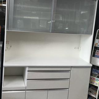 大きめ白物食器棚(松田家具)【美品】
