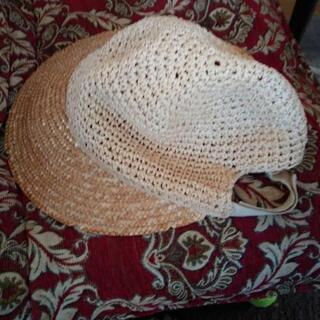 夏の麦わら帽子、おしゃれな、手編み   女性用