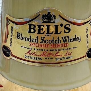 ★★空き瓶のみ!!45年くらい前「BELL'S(ベル)」スコッチウイスキー・インテリアなどに★★ - 萩市