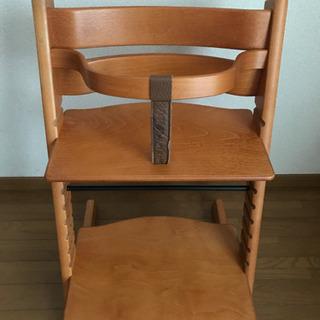 中古品 ベビーガードつきSTOKKE ストッケ TRIPP TRAPP トリップトラップ 子供椅子 ベビーチェアの画像