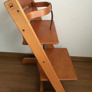 中古品 ベビーガードつきSTOKKE ストッケ TRIPP TRAPP トリップトラップ 子供椅子 ベビーチェア - 西宮市