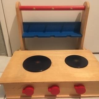 木製玩具 おままごとキッチンコンロ