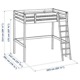 他サイトでお取引中 イケア ロフトダブルベッド IKEA STO...