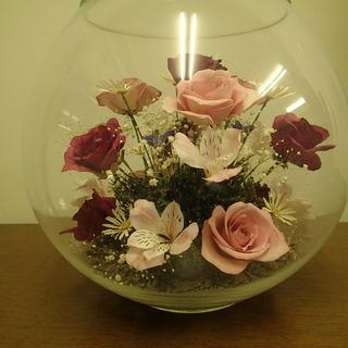 【値下】ガラスドームフラワー(サイズ大)