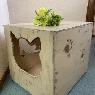 値下げ!ネコトイレ収納ボックス猫ハウスねこハウス