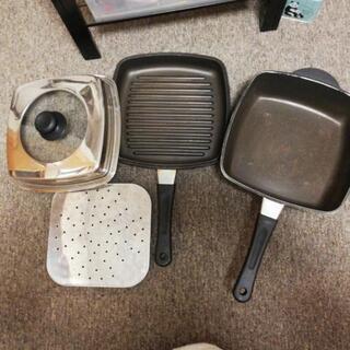 二重鍋(焼肉用・蒸焼用プレート付)