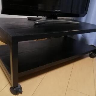 キャスター付テレビボード(ブラック)