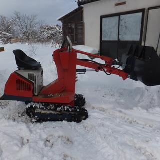 除雪機です