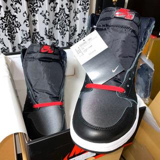 28.5cm SNRKS当選 NIKE AIR JORDAN 1 RETRO HIGH OG BLACK SATIN/ナイキ エアジョーダン ブラックサテン - 服/ファッション
