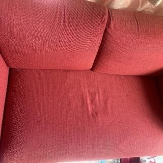 2人用ソファー【赤色】売ります、取りに来てくださる方でお願いします