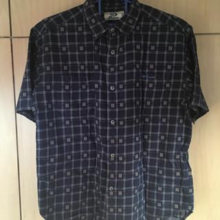 PIKO 半袖シャツ メンズ ネイビー XL