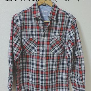 OUTDOORチェックシャツS