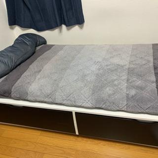 IKEA 収納付きベッド(スノコ付き)マットレスもお付けします!