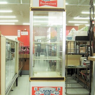現状品 バドワイザー 冷蔵ショーケース 43☓44☓141cm ...