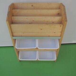 絵本収納棚 おもちゃ収納ボックス 箱つき