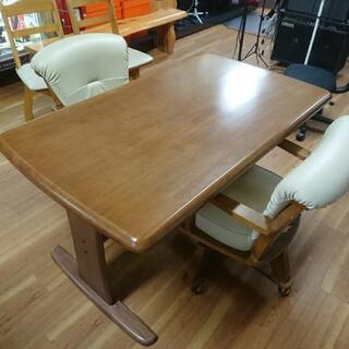 食卓テーブル 椅子2脚セット