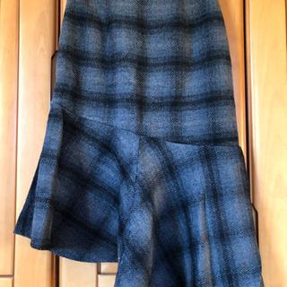 ウール混マーメイドスカート