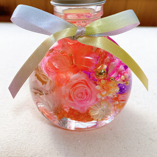 限定 ハーバリウム ネコ瓶 母の日 プレゼント