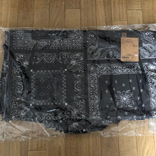 ノースフェイス ノベルティ コンパクトジャケット メンズ バンダナ柄 M ブラック - 服/ファッション