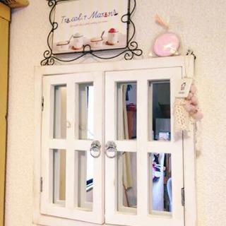 【お譲り先決定】salut!購入 窓枠付き鏡 姿見 アンティーク...