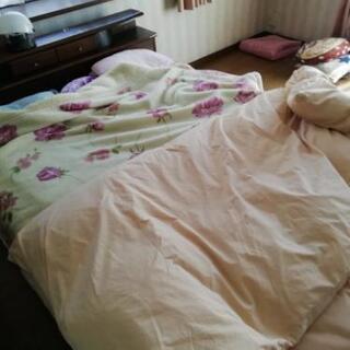 ダブル用、羽毛布団と毛布