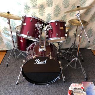 Pearl ドラムセット これ1台で始めれます。