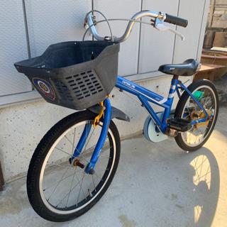 18インチ子供用自転車 青色
