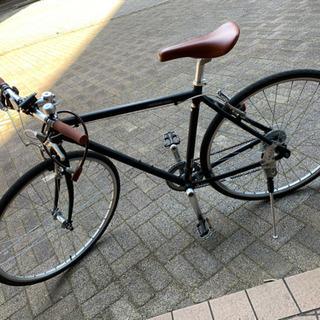 クロスバイク:WEEKENDBIKES(510) ブラック&ブラウン