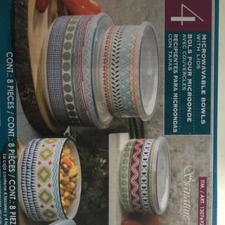 新品未使用 Costco エスニックな陶器の密閉容器