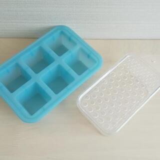 【美品】シリコントレー おろし器 離乳食作りに♪