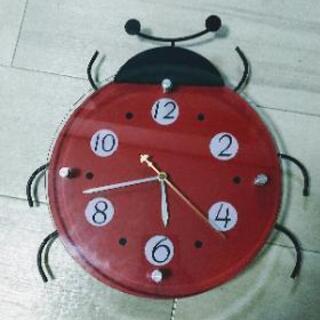 てんとう虫 掛け時計