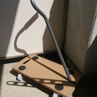 【数回使用】台車 木製 折りたたみ式 小型