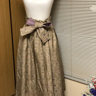 着物生地大島紬でスカートを手作りました。