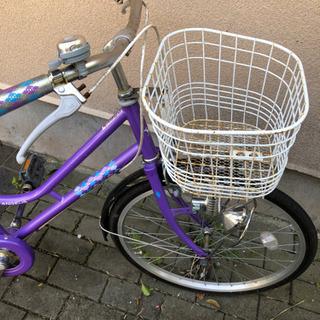 小学生用 紫 自転車 引き取り限定 女の子