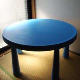 値下げ⭐キッズテーブル 青 IKEA