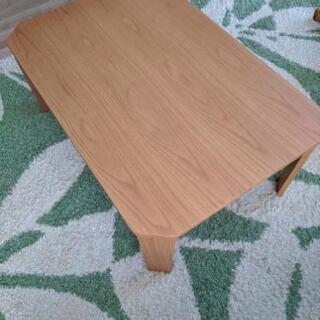美品 折りたたみ式 木製テーブル オーク材
