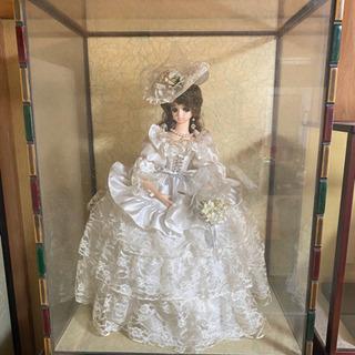 【美品】ガラスケース入り人形