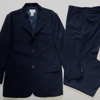 ★取引終了★ アルマーニ スーツ 三つボタン 濃紺 ARMANI...
