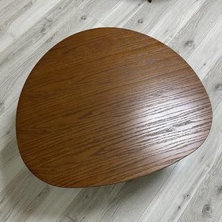 《美品》オシャレなおにぎり型 ちゃぶ台 座卓 ローテーブル 丸テ...