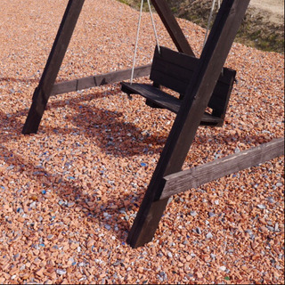 【掲載再開】赤瓦チップ 約25kg以上 土嚢袋詰め放題 オレンジ...