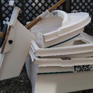 ホープ製三分割ボート 2馬力船外幾セット