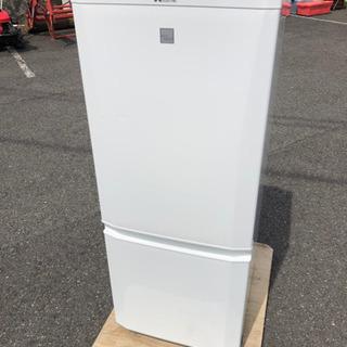 訳有り 三菱 146L 2ドア冷凍冷蔵庫 MR-P15EZ-KW...