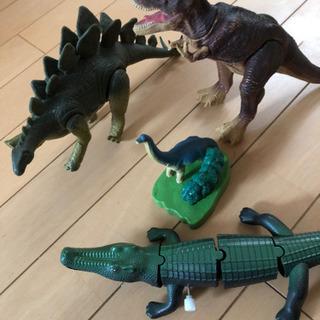 恐竜 ティラノサウルス ステゴサウルス おまけ付き