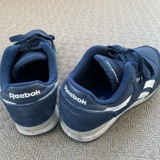 Reebok リーボック ネイビースニーカー 27.5cm - 靴/バッグ