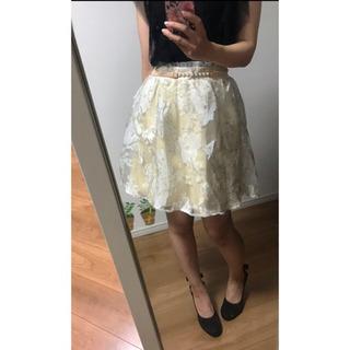 新品☆nohea ☆ノヘア❤︎ベルト付きオーガンジースカート
