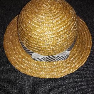 未使用 子供用麦わら帽子 サイズ50cm