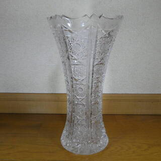 Bohemian Glass(ボヘミアングラス) 花瓶 箱付き