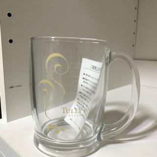 [タリーズコーヒーロゴ入り]グラスマグカップ