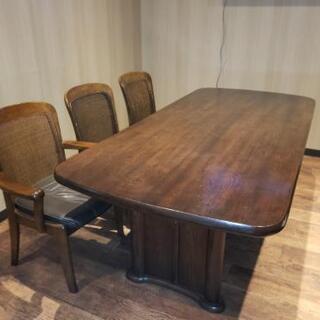 カリモク製、6人掛ダイニングテーブル